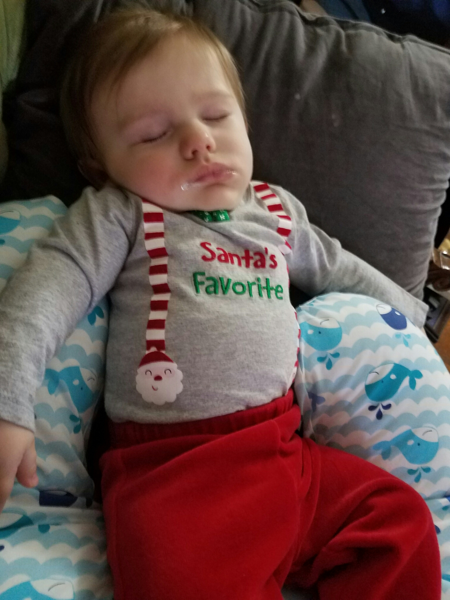 Tired and milk drunk