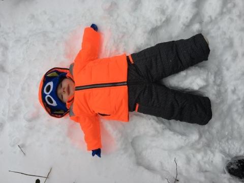 My first snow!